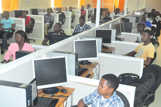 Some of the students at the Training Programme held on Campus