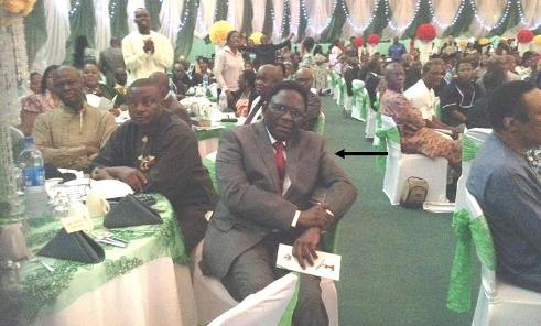 The Vice-Chancellor, Prof. Olusola Oyewole (Arrowed), at the National Prayer Breakfast in Abuja, recently
